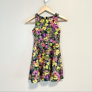 Ruum Girls A-line Fit and Flare Floral Party Dress